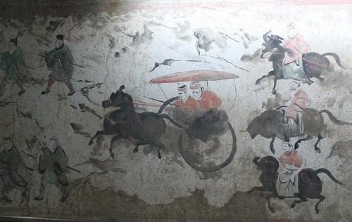 фреска, Китай, история,