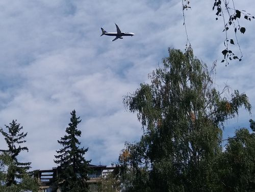 шум от самолета
