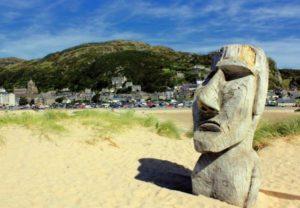 каменные статуи, моаи, остров Пасхи,